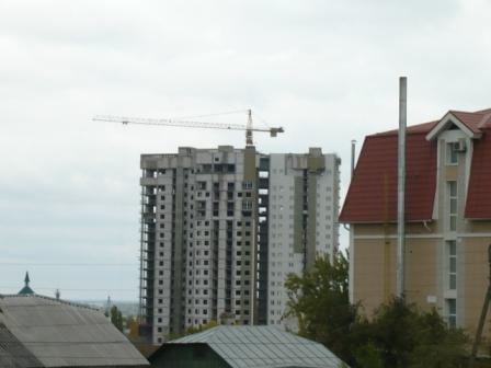 Строительство небоскреба.