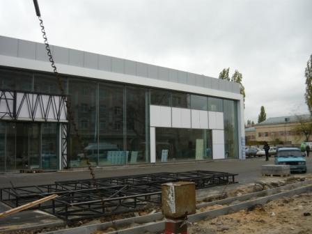 Строительство автомобильного центра