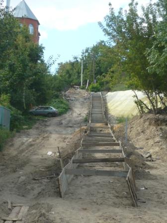 Ремонт Нагорной лестницы (ход работ)