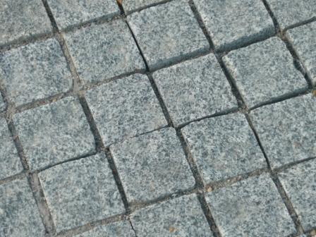 Новая брусчатка на площади Ленина
