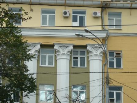 Фрагмент фасада бывшей гостиницы Воронеж
